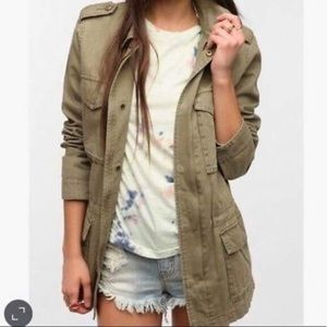 Urban Outfitters Green Oversized Surplus Jacket